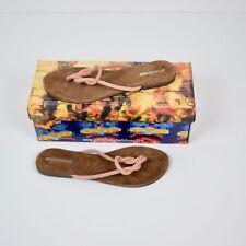 301da3783b5a Jeffrey Campbell Malia-2 Blush Pink Suede Infinity Knot Thong Sandal Womens Sz  8