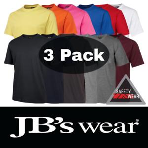 3x JB's Wear Crew Neck Tee Shirt 100% Cotton 1HT
