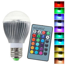 9W LED Light Bulb RGB Hue Multi-Colored 16 Colors Changing + IR Remote Control