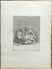 Gravure XVIe, Adamo Scultori, Michelangelo, Engraving Incisione Radierung 16th