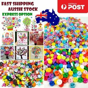 100pcs Buttons 6mm 7mm 10mm Multicoloured Mixed Colour Clothing Sewing