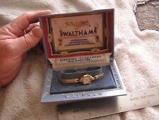Vintage Ladies Women's Waltham 17 Jewels Watch Original Box