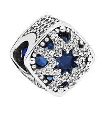New Genuine PANDORA S925 ALE Glacial Beauty Blue charm Silver 796360NSB RRP £55