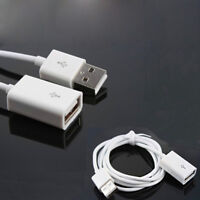 White 1m usb 2.0 type a female to a male extension cable cord lead   I