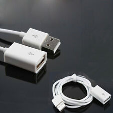 White 1m usb 2.0 type a female to a male extension cable cord lead_S