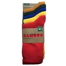 Men's 100% Bamboo Socks 5-Pair Pack Plain Colourful
