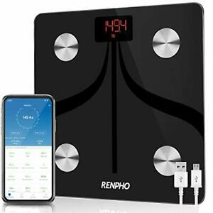 RENPHO Smart Body Fat Scales USB Rechargeable, Bluetooth Bathroom Scales High