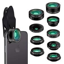 KAIESS Phone Camera Lens 9 in 1 Kit for Apple iPhone & Samsung Galaxy ~ NEW