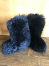 UGG FLUFF MOMMA BOOTS 8 BLACK COLOR SKI APRES FURRY GORGEOUS RARE DISCONTINUED