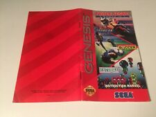 Triple Score 3 Games in 1 - Sega Genesis - Instruction,Manual ONLY