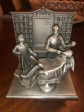 The Barber Shop Franklin Mint Albert Ciriaco fine pewter Figurine Statue Nice
