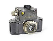 USSR Rare Nice GOMZ Sport First SLR 35mm Camera Industar Lens 3.5/50mm No.7698