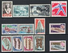 French Polynesia 1955-70 Group of 12 Better Stamps MNH CV$140