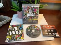 DJ Hero Sony PS3 PlayStation 3 Game Complete +Manual PRISTINE Shape