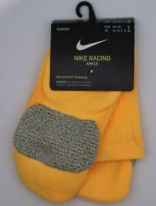 NIKE GRIP RACING RUNNING MEN DRI FIT ANKLE SOCKS - ORANGE SK0122-812 - ALL SIZES