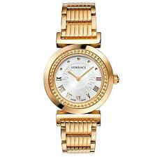 Versace Women's P5Q80D001 S080 Vanitas Rose Gold IP Silver Dial Bracelet Watch