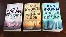 Dan Brown ~ Lot of  3 ~ Da Vinci Code Angels & Demons Deception Point