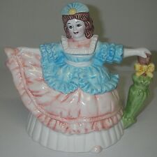 Collectible Novelty TEAPOT w Lid Ceramic Southern Belle Umbrella Handpainted