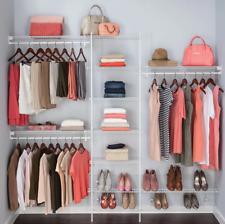 ClosetMaid Fixed Mount Closet Organizer Kit Clothes Storage System White