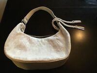 White Italian Lambskin Leather Christopher Inge Handbag. Used Twice.Embroidered.