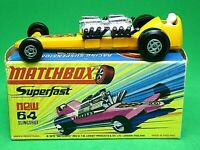 Matchbox Lesney No.64c Slingshot Dragster H1 'New' Box (VERY RARE LIGHT ORANGE)