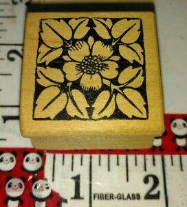 Dogwood flower leaves, magenta, 126,rubber,stamp