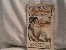 1908 Studebaker Farmer'S Almanac & Weather Forecast From Glendale,Or