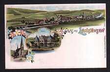 109311 AK Lenhausen Finnentrop Litho um 1900 Schloss Kirche Panorama