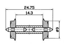 Roco 40191 Radsatz 9 mm mit geteilter Achse (H0) ++ NEU & OVP