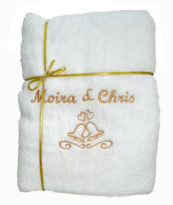 Personalised  Embroidered Hand Towels Set Wedding  Xmas Boys Girls Baby  Gift