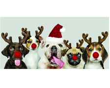 Christmas Dogs Group Christmas Cards Pack of 10 St Oswald's Hospice Charity -123