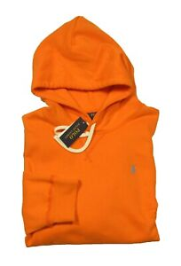 NWD Polo Ralph Lauren Men's Orange Cotton Blend Fleece Lined Pullover Hoodie
