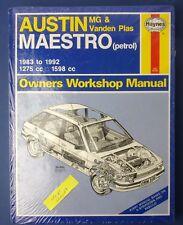 Haynes Owners Workshop Manual Austin MG & VP Maestro 1983 -1992 1275 1598 (new)