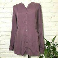 ModCloth Lilac Long Sleeve Fall Blouse Shirt Top Career Women's Size M Medium