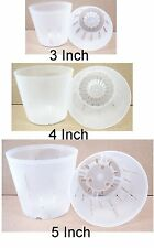 Clear Plastic Pots for Orchids Assortment of 3 inch, 4 inch and 5 inch -6/pk