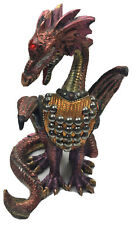 Dragon Sitting with Beaded Armour On Front Figurine 640g H20cm x W8cm