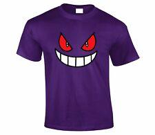 Gengar Face Pokemon TV Show Catchem All T shirt Top Unisex Tshirt