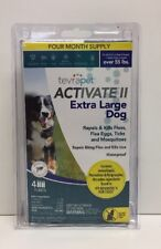(New) TevraPet Activate II Flea and Tick, Extra Large Dogs over 55 lbs