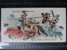 No.30 1520 FIELD CLOTH OF GOLD TOURNAMENT Arms & Armour (Blue) John Player 1909