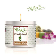 Alphy&Becs Candles Sandalwood & Vanilla Eco Soy 200gr HandMade In UK