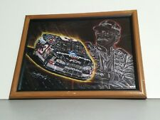 Dale Earnhardt Sr #3 Goodwrench Chevrolet NASCAR Sam Bass Print Framed
