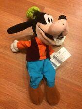 Goofy Mini Bean Bag Bottom Disney Plush Green Hat Blue Pants Soft Disney Small