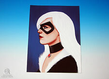 Black Cat Mondo Mike Mitchell Portrait Print Marve Comics Rare Giclee Proof