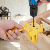 Handheld Woodworking Doweling Jig Drill Guide Wood Dowel Drilling Hole Saw !