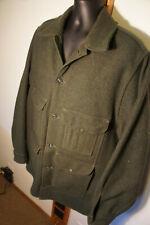 Vtg Filson Mackinaw Cruiser  110XL Long 48 Green Wool Coat 10044  o28