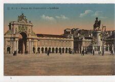 Praca Do Commercio Lisboa Portugal Vintage Postcard 751a
