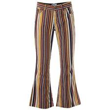 NEW RETRO 60s 70s Cord CORDUROY FLARES FLARED TROUSERS Jeans KILLER STRIPE MC504