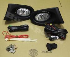 2002-2004 Acura RSX Clear Bumper Driving Fog Lights Pair w/ Lamp