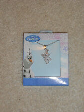 "NEW, DISNEY FROZEN OLAF SNOWMAN NECKLACE WITH 16"" CHAIN"