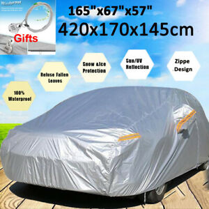 Full Car Cover Waterproof Scratch Snow Rain Resistant Dustproof For Peugeot 405